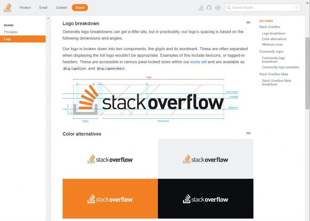 logo do stackverflow em uma grid, em baixo 4 aplicacoes do logo com fundos branco, cinza, laranja e preto