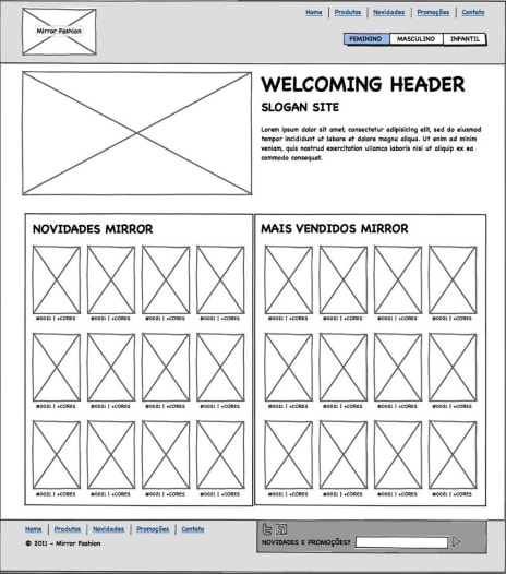 exemplo wireframe site